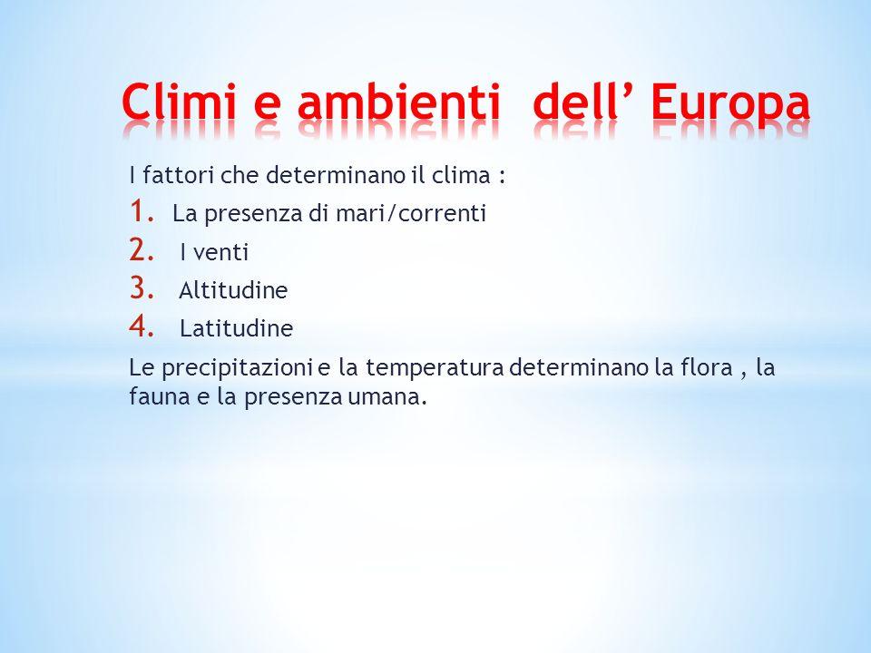 Climi e ambienti dell' Europa