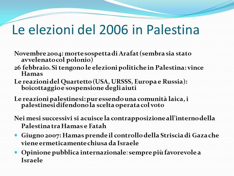 Le elezioni del 2006 in Palestina