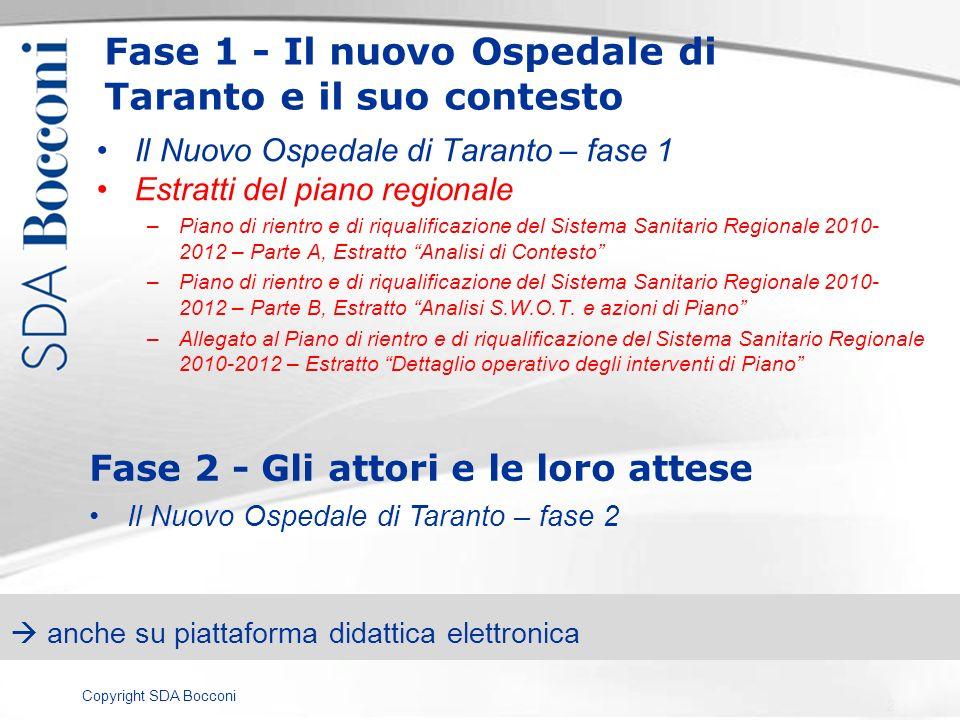 Fase 1 - Il nuovo Ospedale di Taranto e il suo contesto