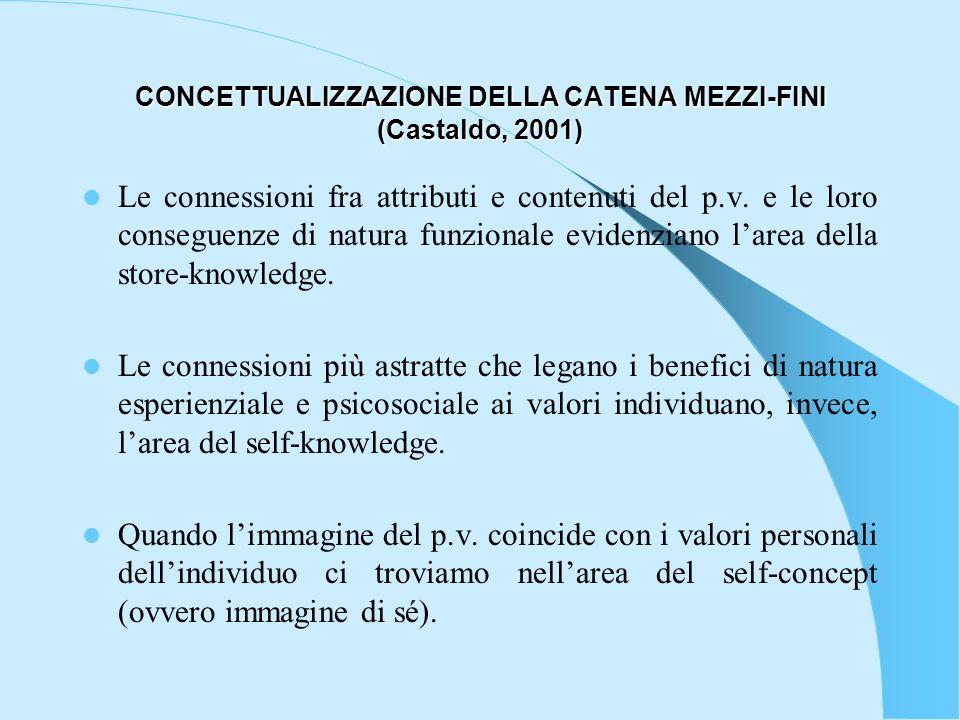 CONCETTUALIZZAZIONE DELLA CATENA MEZZI-FINI (Castaldo, 2001)