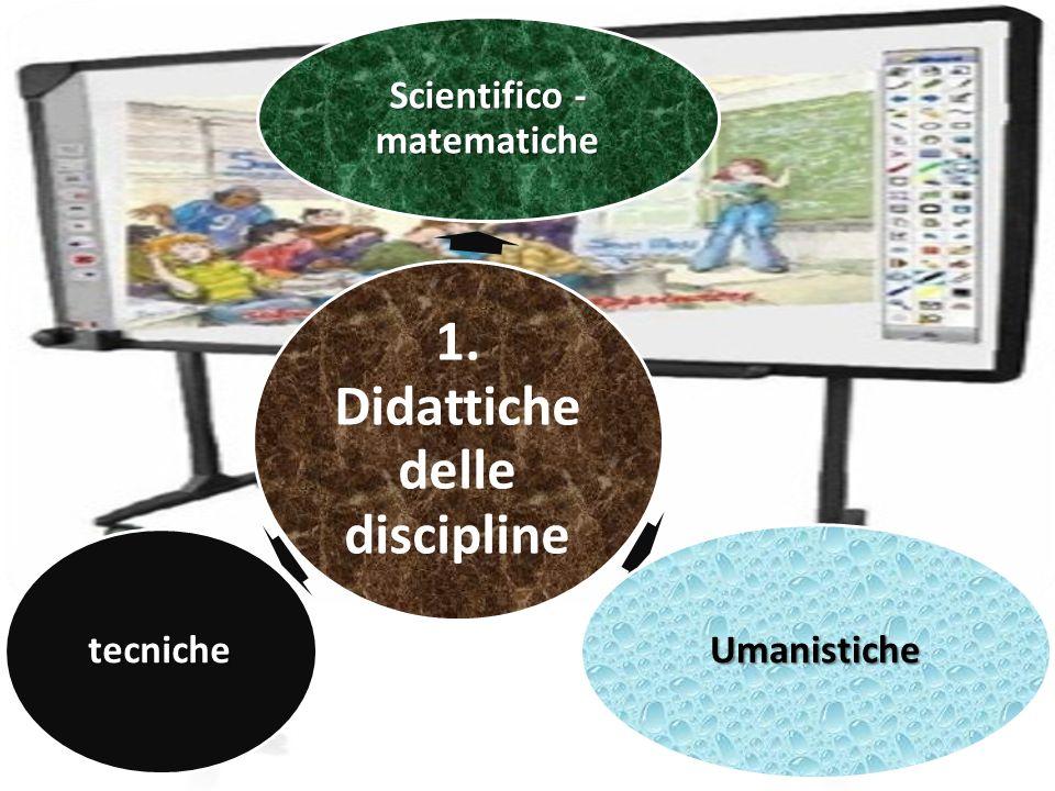 1. Didattiche delle discipline Scientifico - matematiche