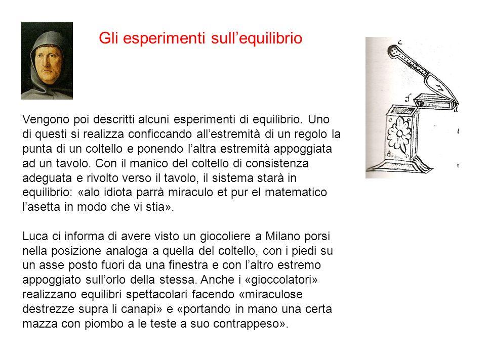 Gli esperimenti sull'equilibrio