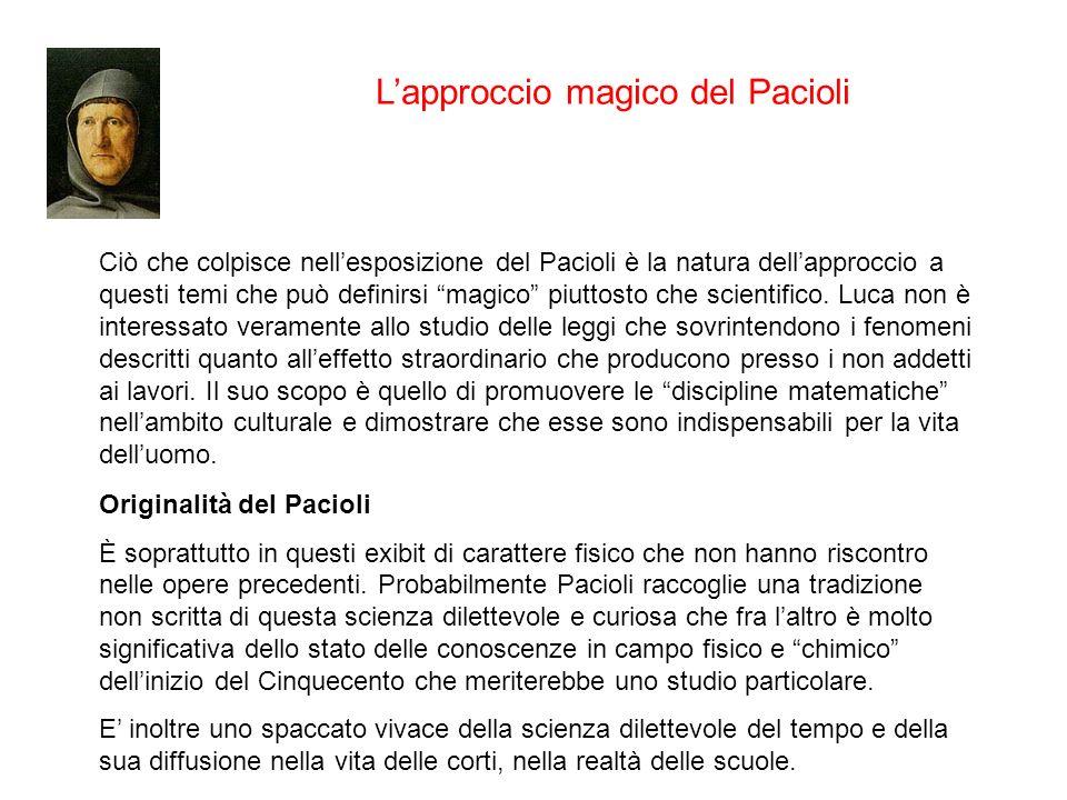 L'approccio magico del Pacioli