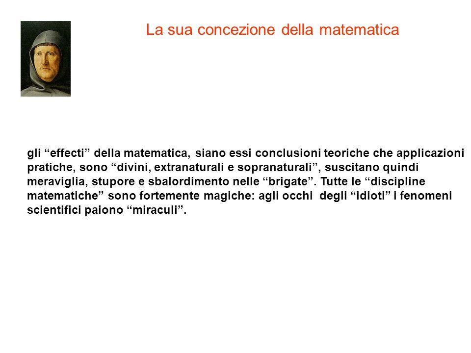 La sua concezione della matematica