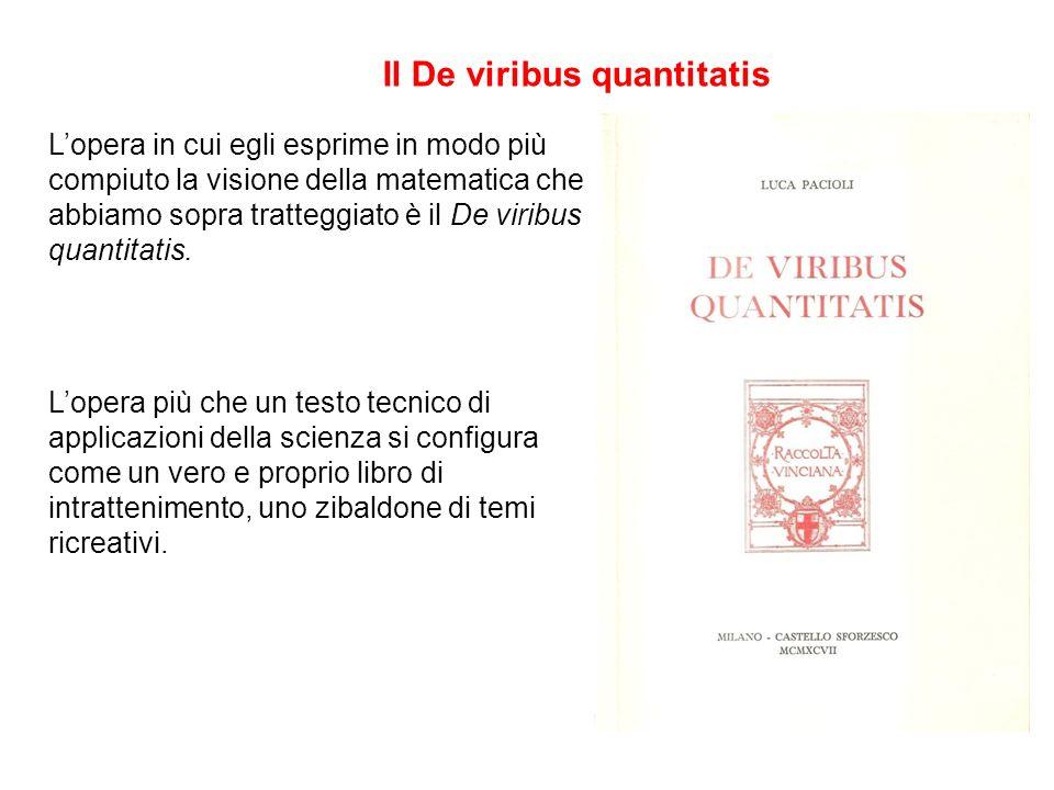 Il De viribus quantitatis