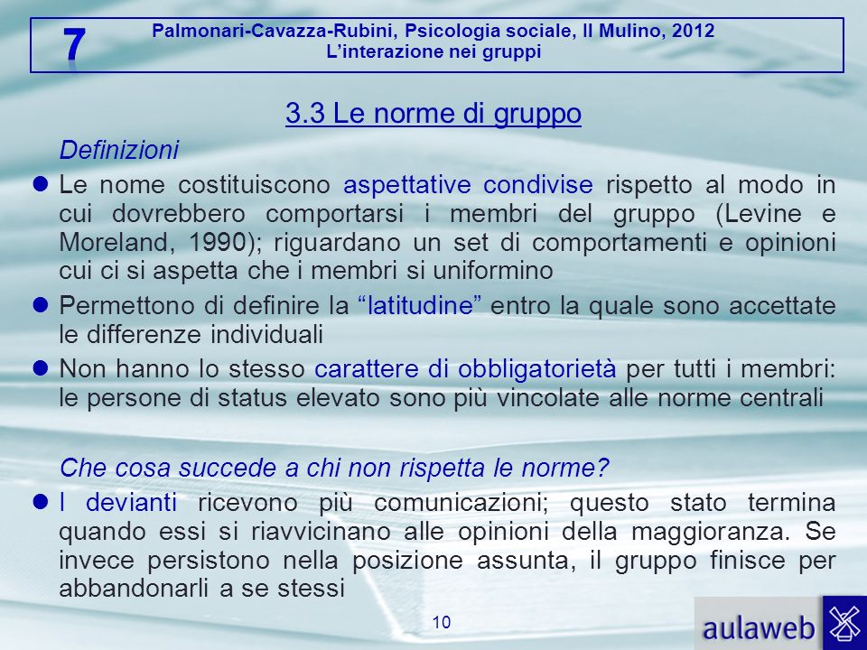 3.3 Le norme di gruppo Definizioni.