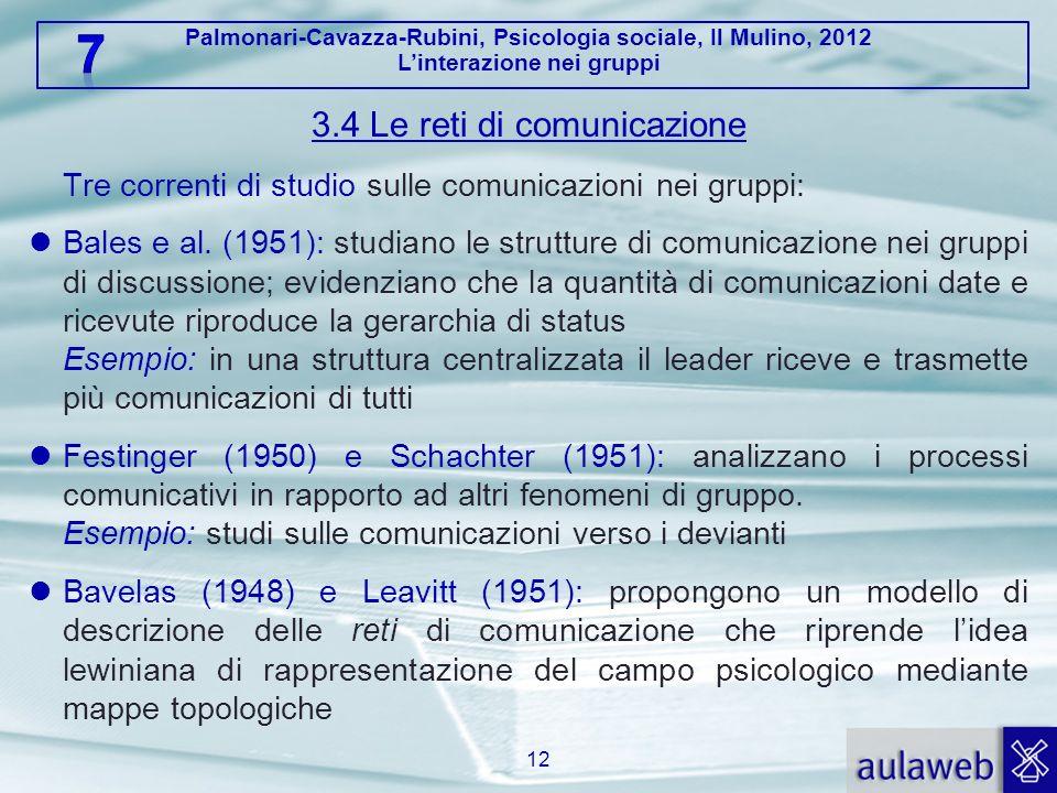 3.4 Le reti di comunicazione