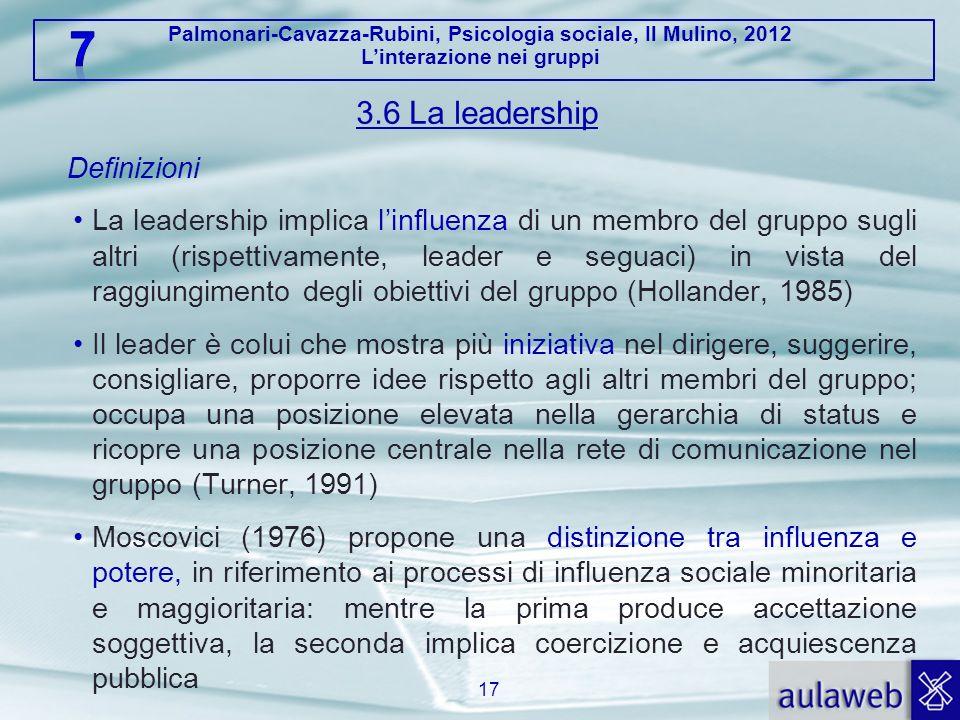 3.6 La leadership Definizioni.