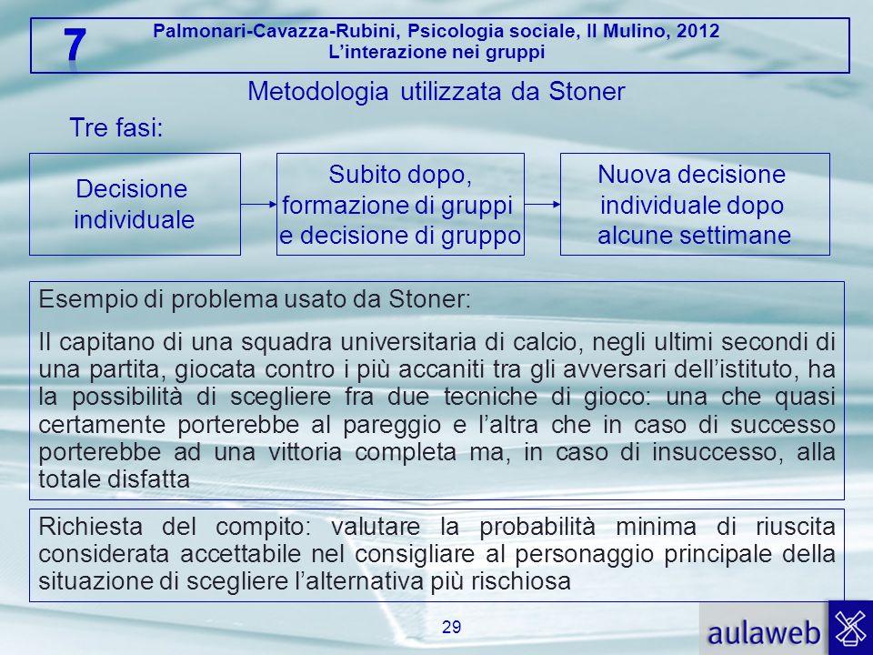Metodologia utilizzata da Stoner