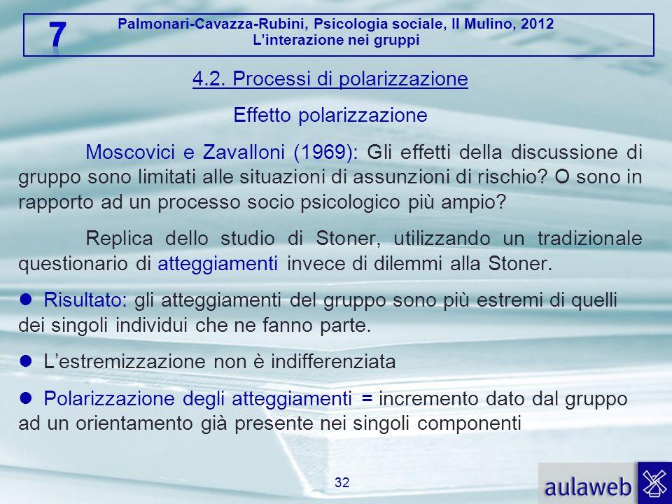 4.2. Processi di polarizzazione Effetto polarizzazione