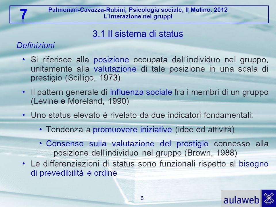 3.1 Il sistema di status Definizioni