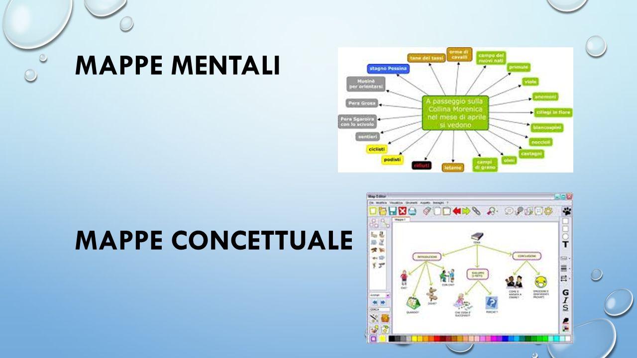 MAPPE MENTALI MAPPE CONCETTUALE