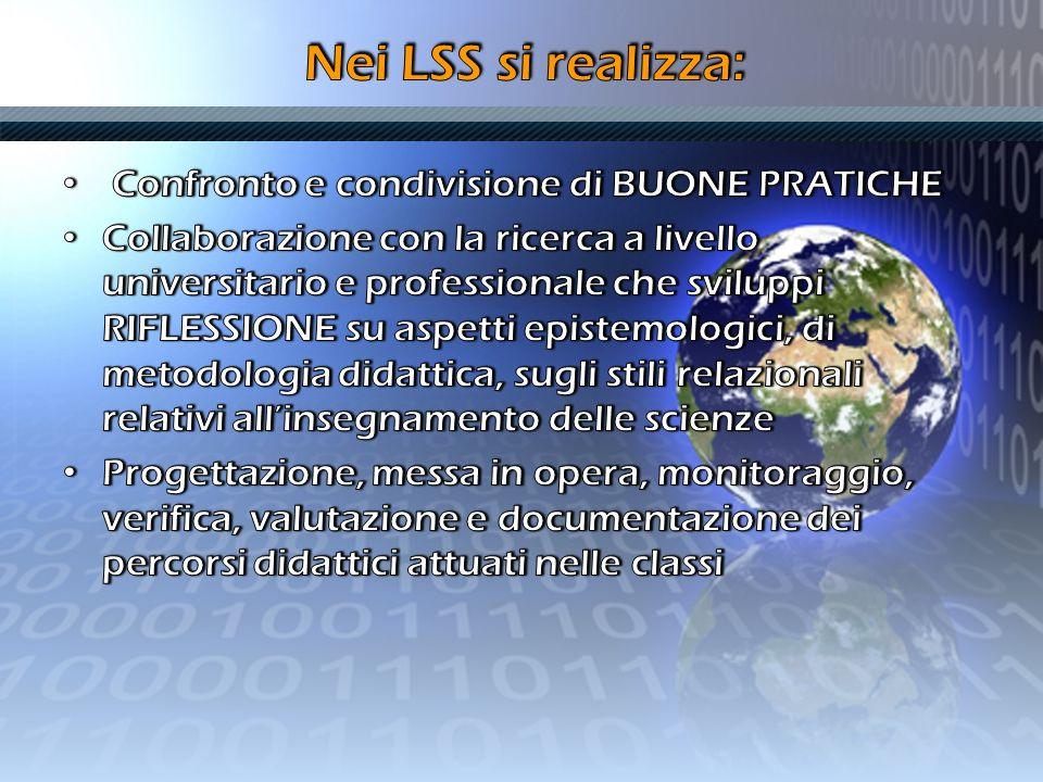 Nei LSS si realizza: Confronto e condivisione di BUONE PRATICHE