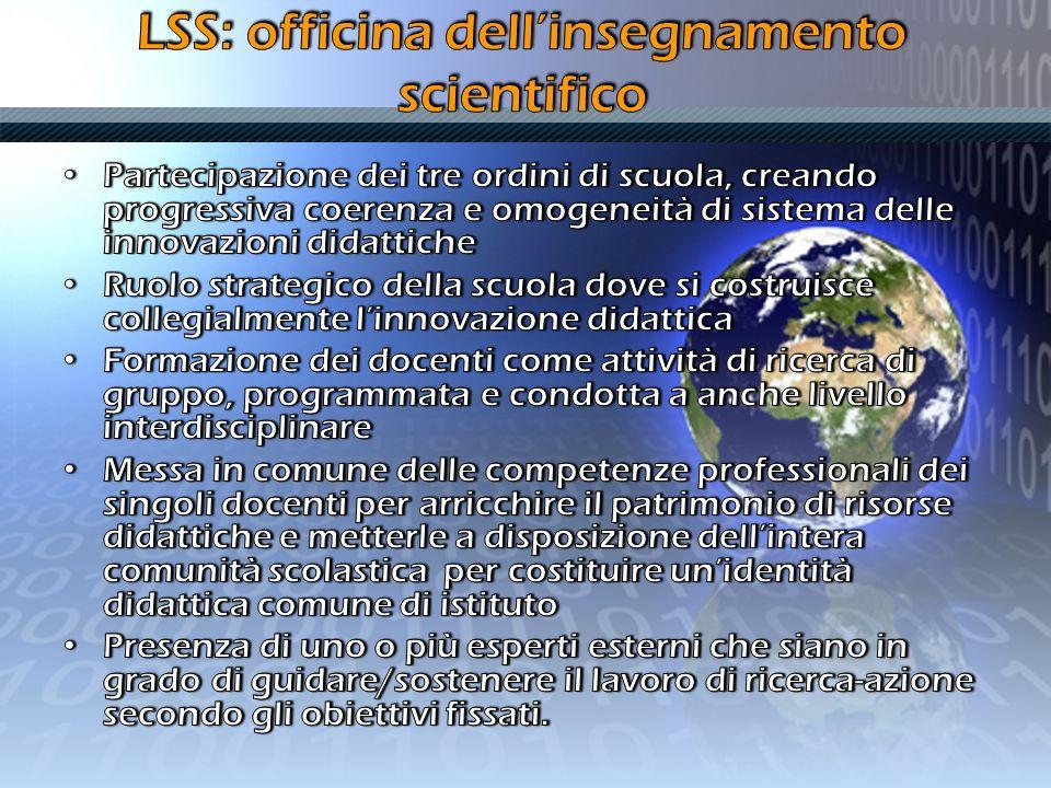 LSS: officina dell'insegnamento scientifico