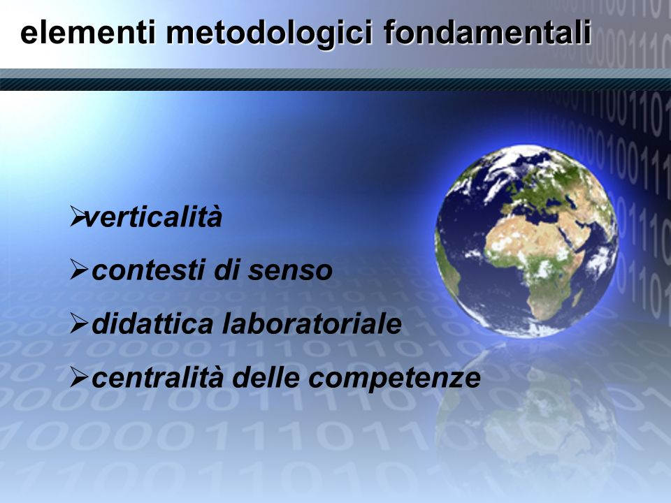 elementi metodologici fondamentali