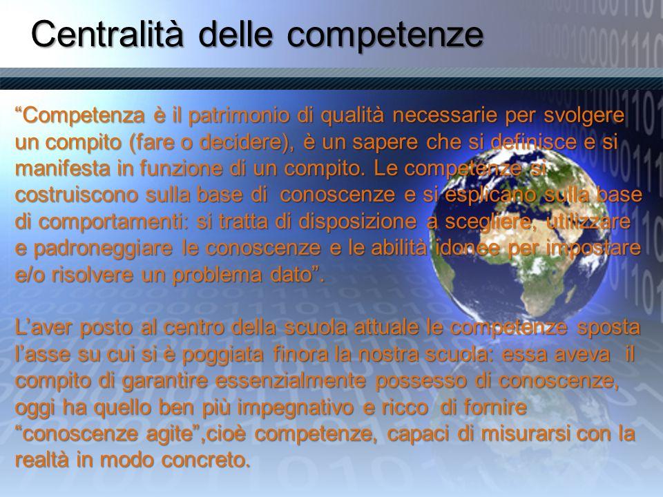 Centralità delle competenze