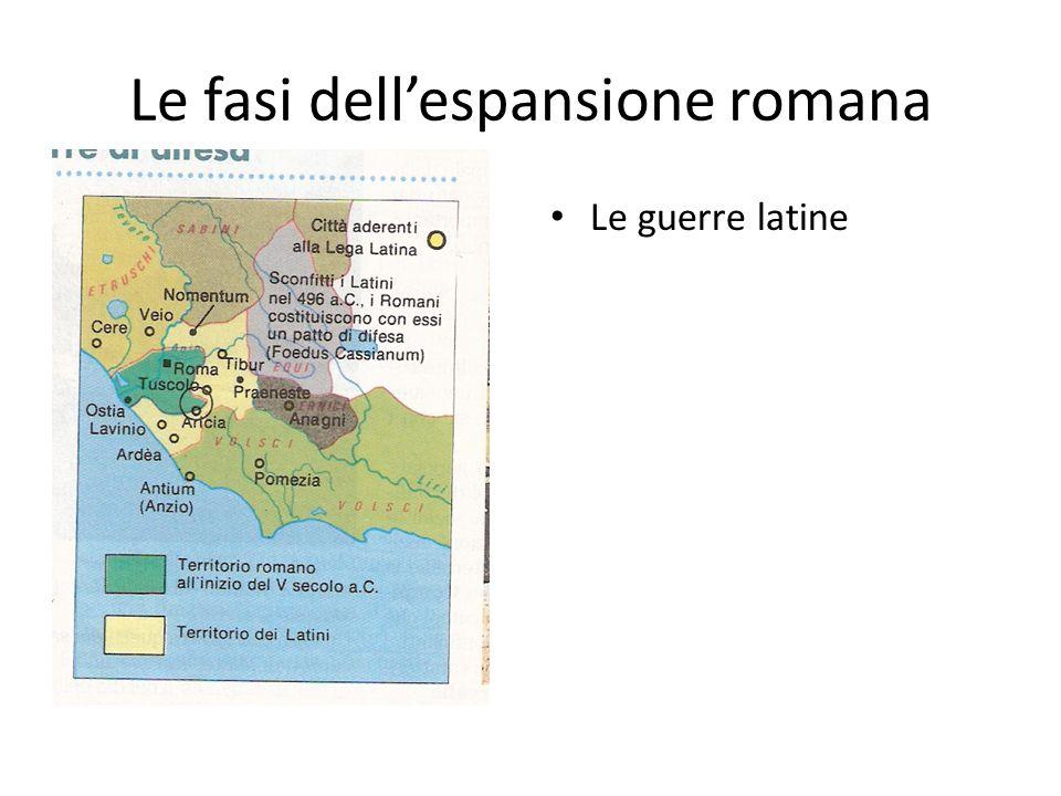 Le fasi dell'espansione romana