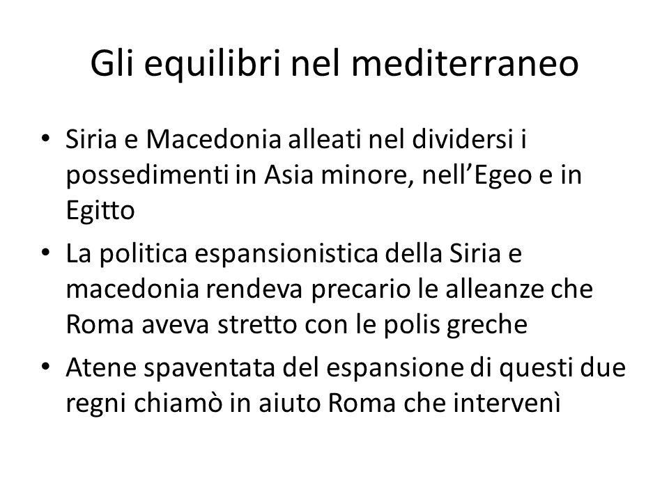 Gli equilibri nel mediterraneo