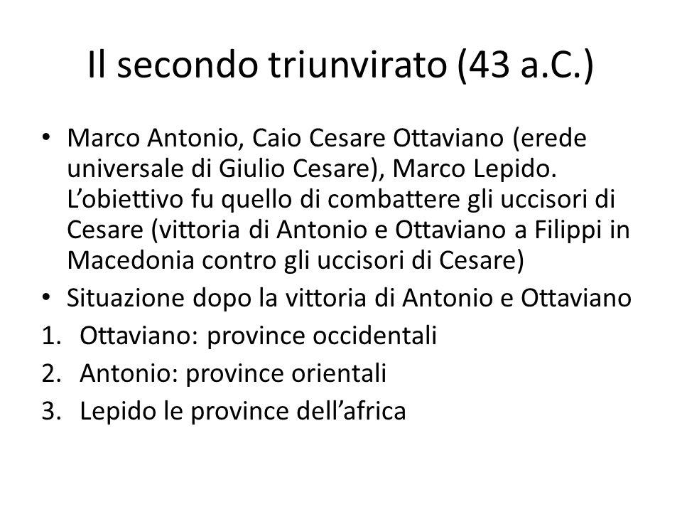 Il secondo triunvirato (43 a.C.)