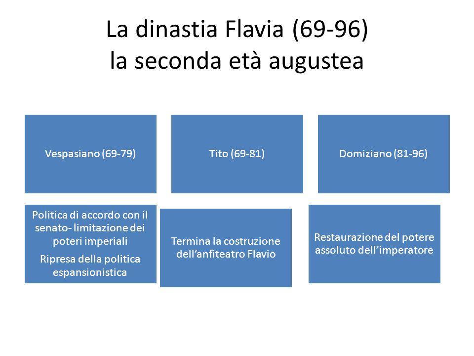 La dinastia Flavia (69-96) la seconda età augustea