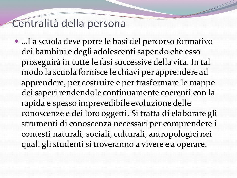 Centralità della persona