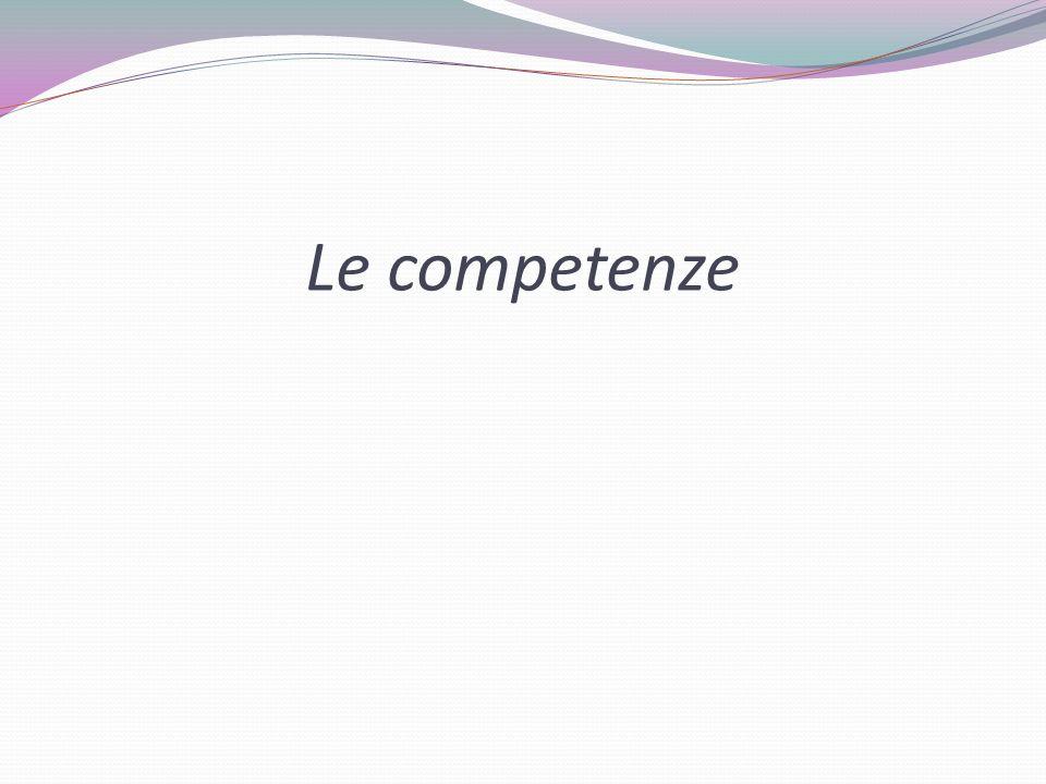 Le competenze