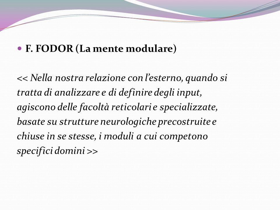 F. FODOR (La mente modulare)