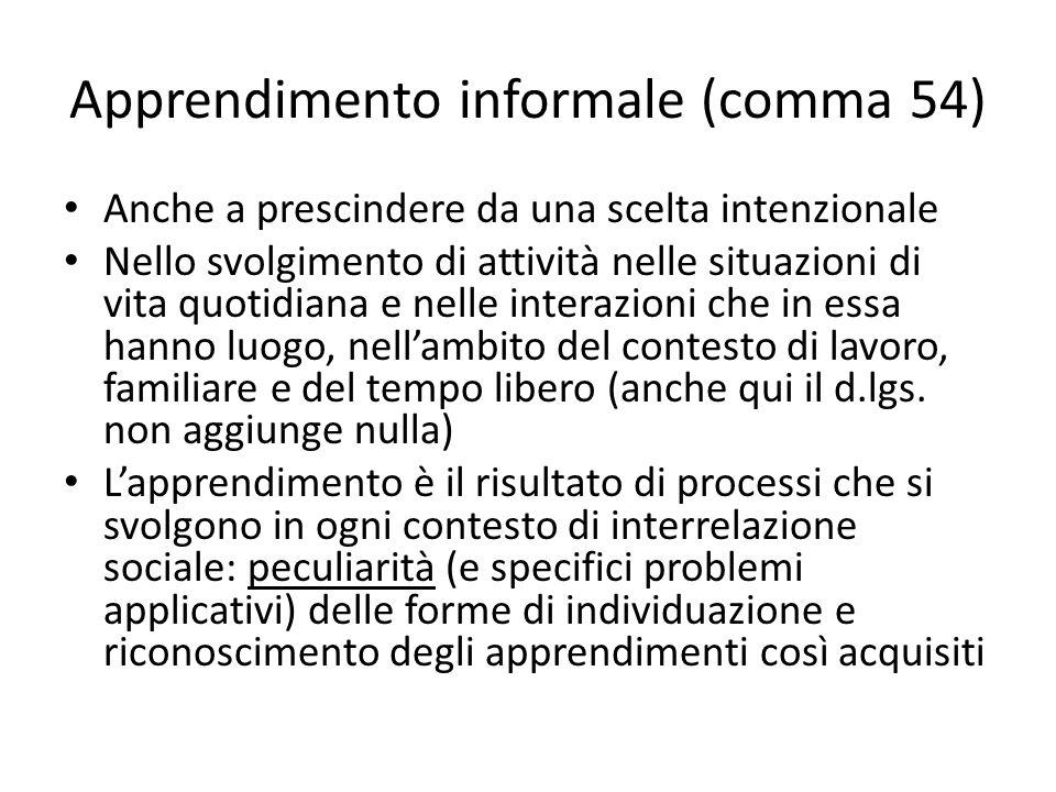 Apprendimento informale (comma 54)