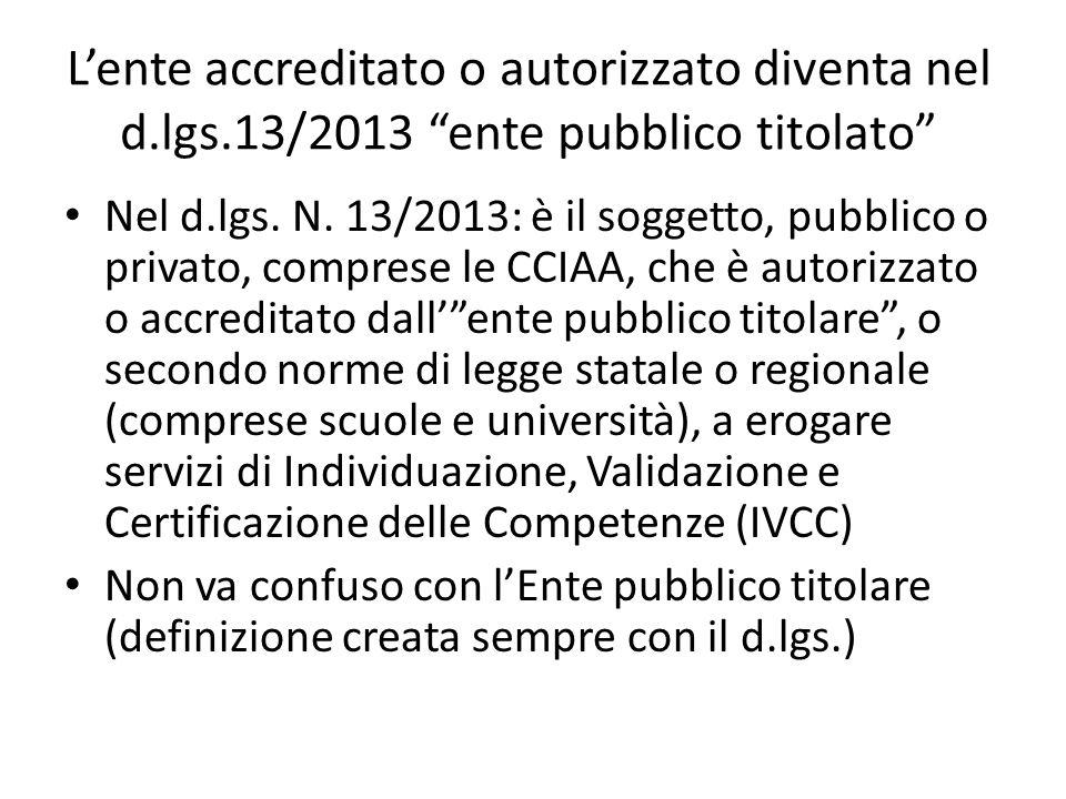 L'ente accreditato o autorizzato diventa nel d. lgs