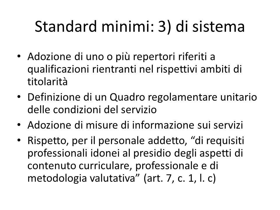 Standard minimi: 3) di sistema