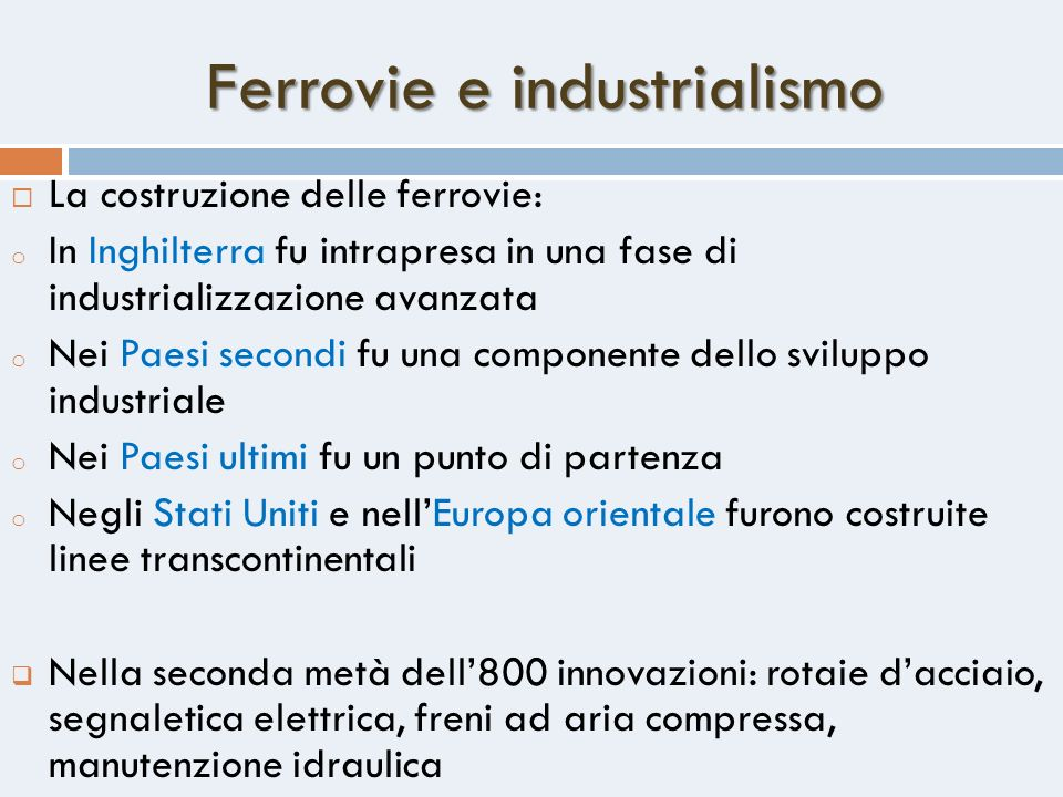 Ferrovie e industrialismo
