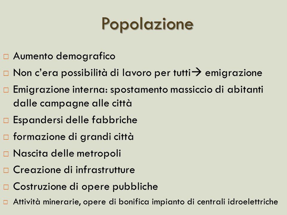 Popolazione Aumento demografico
