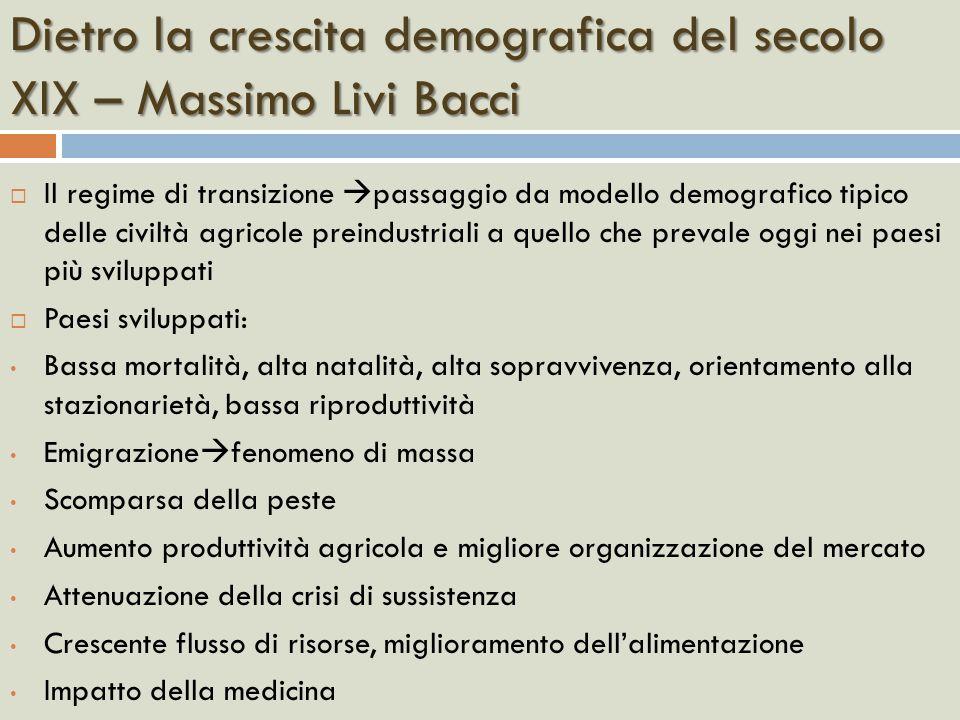 Dietro la crescita demografica del secolo XIX – Massimo Livi Bacci