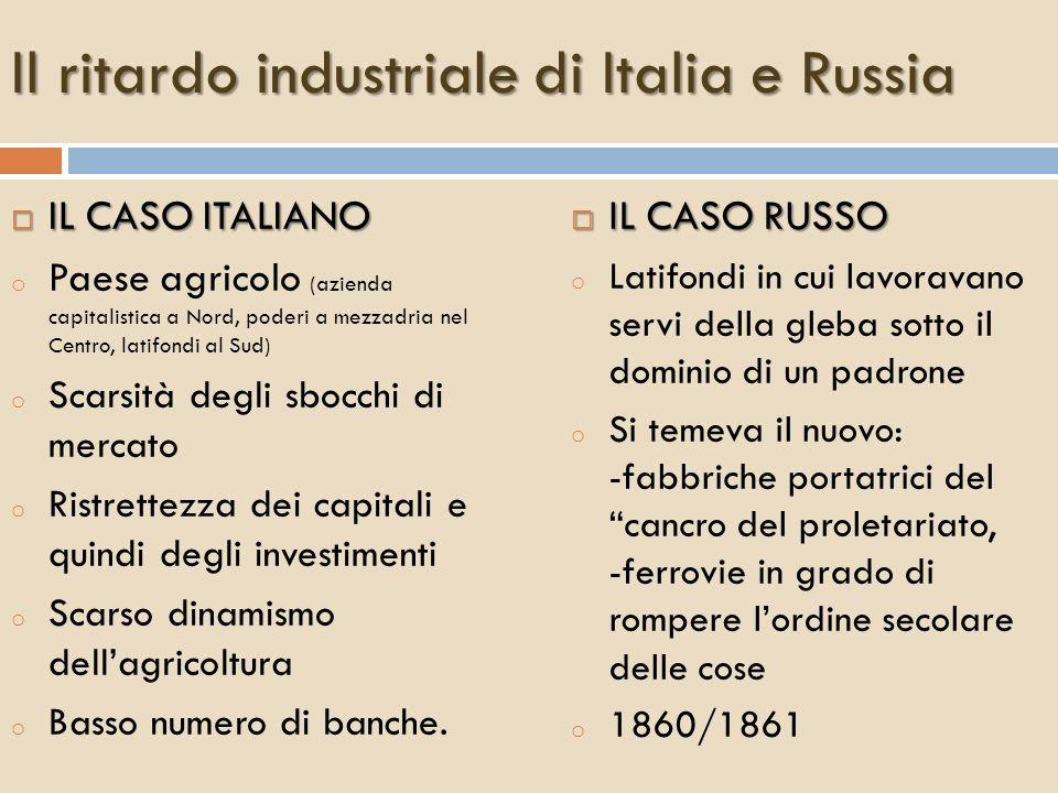 Il ritardo industriale di Italia e Russia