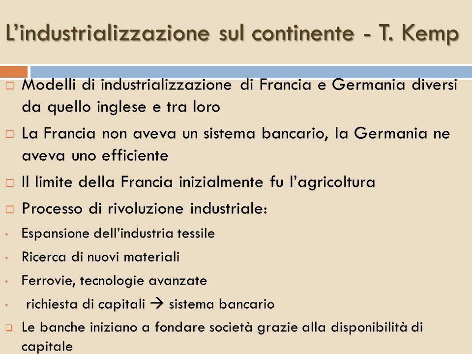 L'industrializzazione sul continente - T. Kemp
