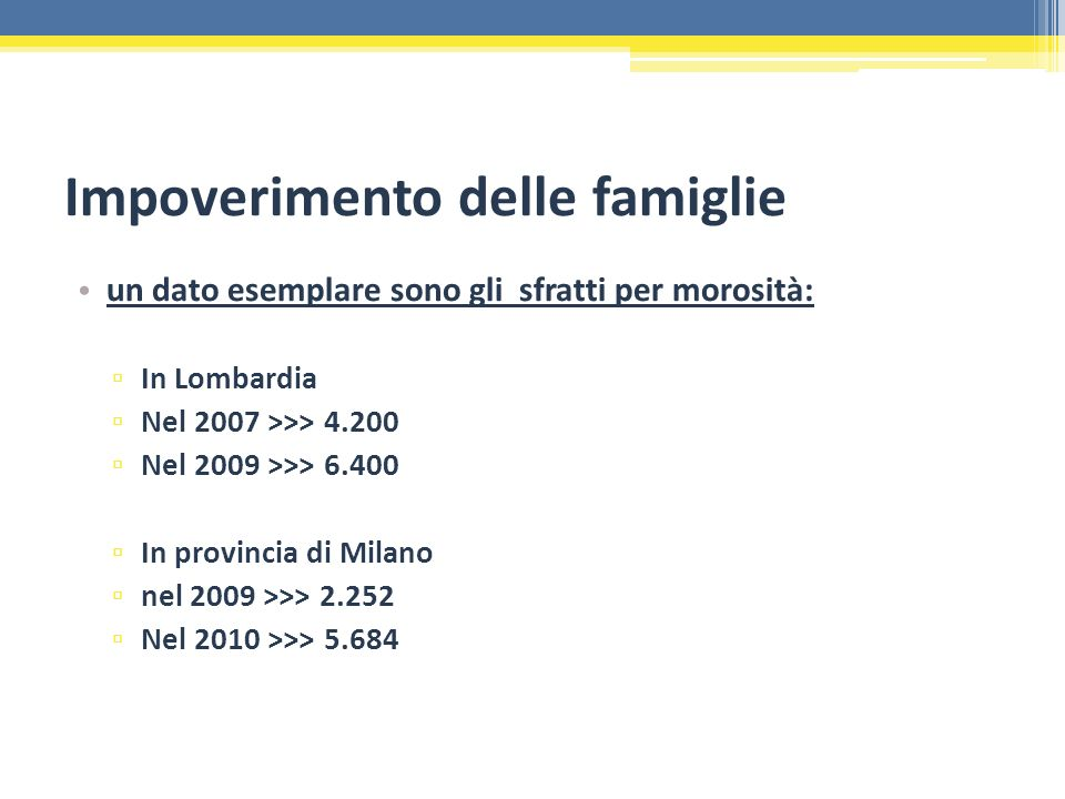 Impoverimento delle famiglie