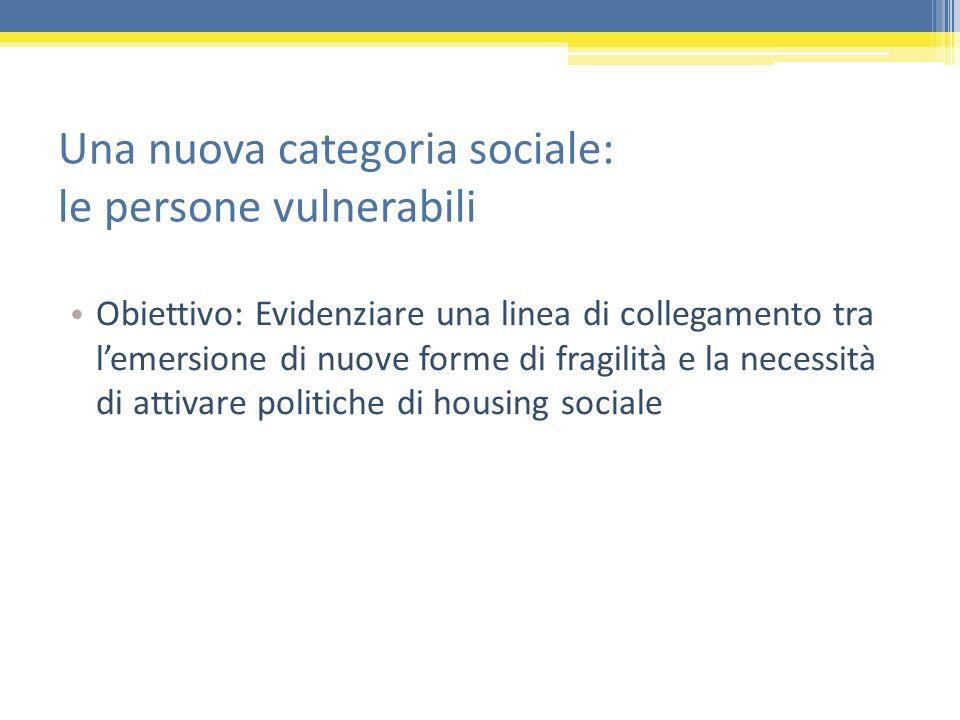 Una nuova categoria sociale: le persone vulnerabili