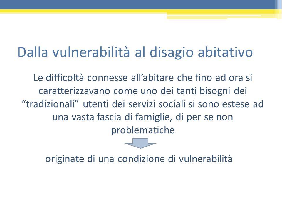 Dalla vulnerabilità al disagio abitativo