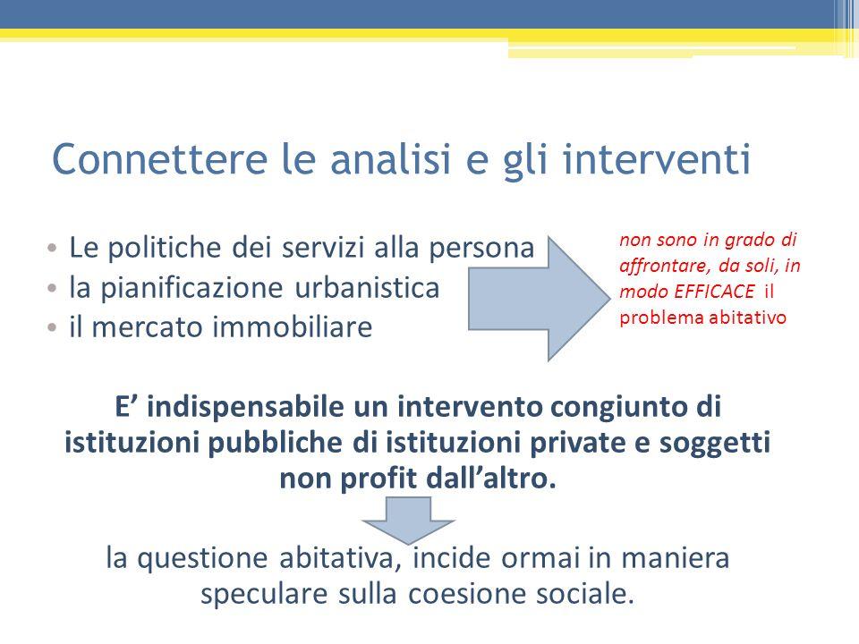 Connettere le analisi e gli interventi
