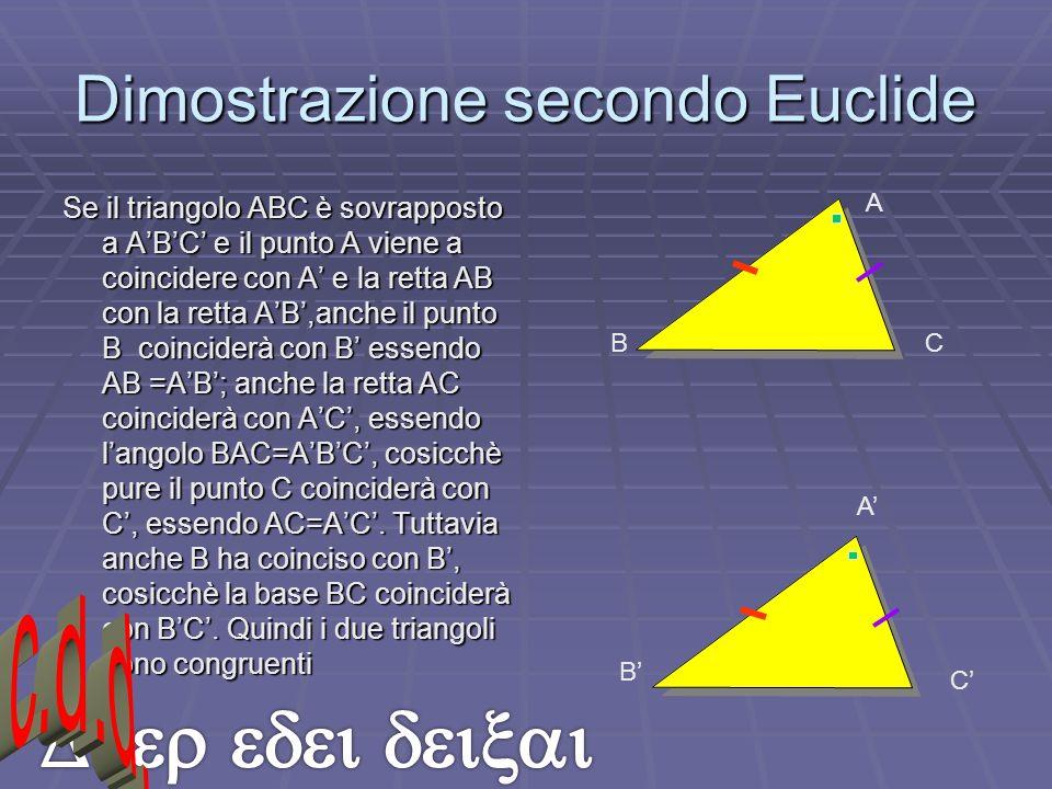Dimostrazione secondo Euclide