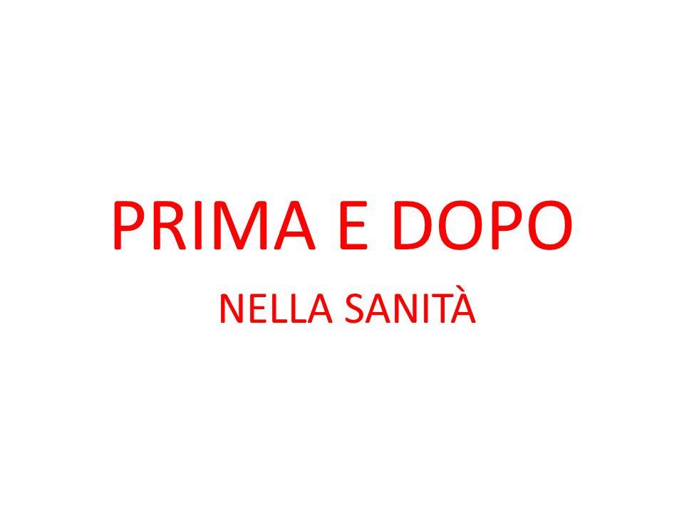 PRIMA E DOPO NELLA SANITÀ