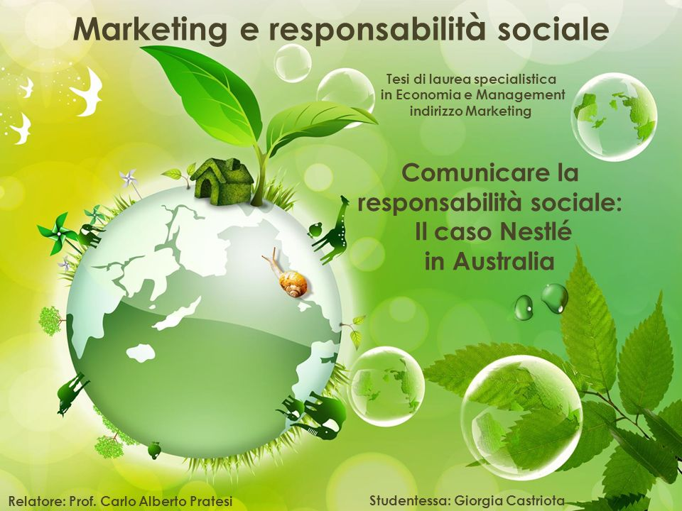 Marketing e responsabilità sociale