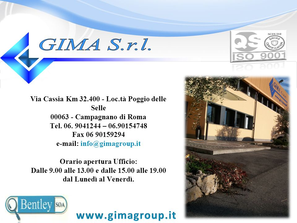e-mail: info@gimagroup.it