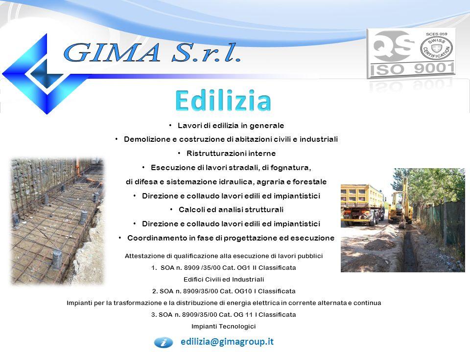 Edilizia GIMA S.r.l. edilizia@gimagroup.it