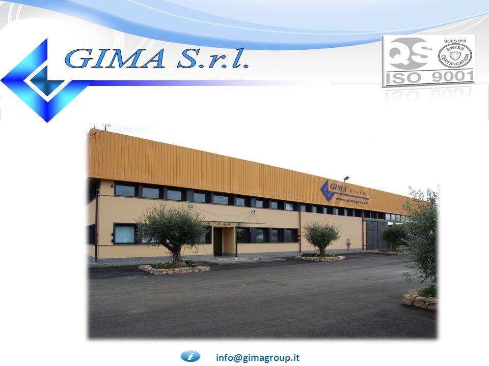 GIMA S.r.l. CONTATTACI ORA! CERTIFICAZIONI! info@gimagroup.it