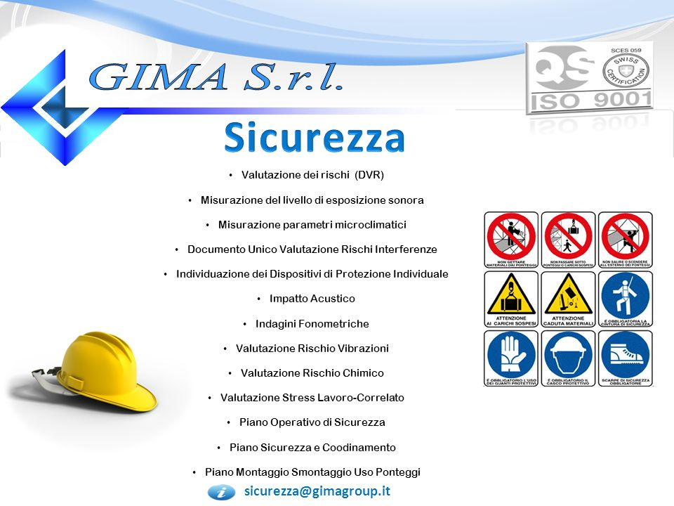 Sicurezza GIMA S.r.l. sicurezza@gimagroup.it
