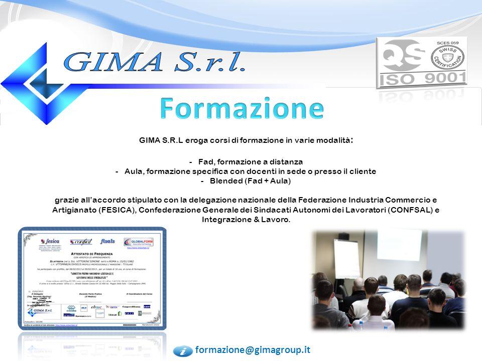 Formazione GIMA S.r.l. formazione@gimagroup.it