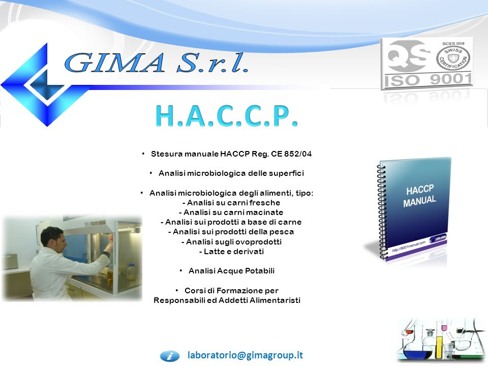 H.A.C.C.P. GIMA S.r.l. laboratorio@gimagroup.it