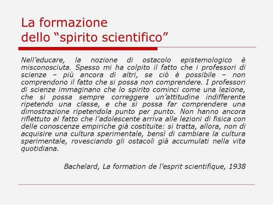 La formazione dello spirito scientifico