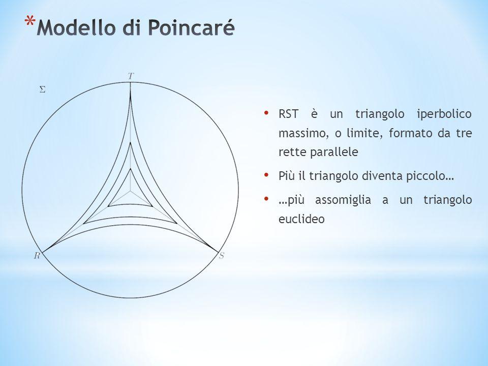 Modello di Poincaré RST è un triangolo iperbolico massimo, o limite, formato da tre rette parallele.